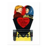El día de San Valentín del vintage; Amor y romance Postal