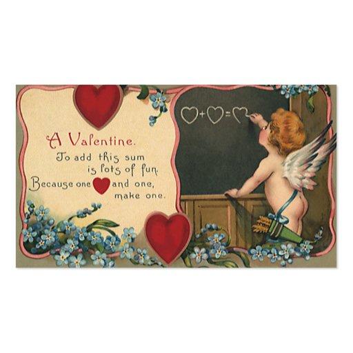 El día de San Valentín del vintage; Ángel de Tarjetas De Visita