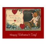 El día de San Valentín del vintage; Ángel de Postal