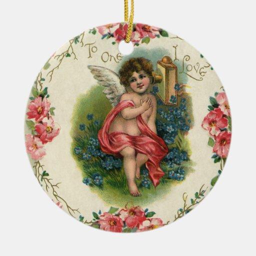 El día de San Valentín del vintage, ángel del Vict Ornato