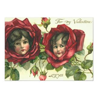 El día de San Valentín del vintage, caras del Invitaciones Personalizada