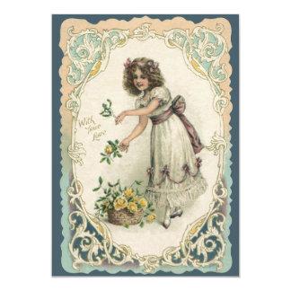 El día de San Valentín del vintage, chica del Comunicados Personales