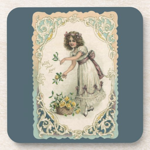 El día de San Valentín del vintage, chica del Posavaso