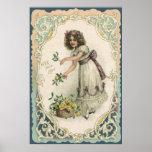 El día de San Valentín del vintage, chica del Vict Posters