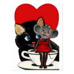 El día de San Valentín del vintage, corazón de la Postal