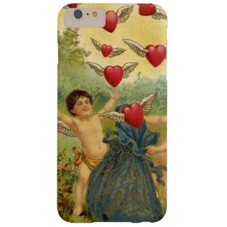 El día de San Valentín del vintage, corazones de Funda De iPhone 6 Plus Barely There