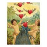 El día de San Valentín del vintage, corazones de Comunicado Personal