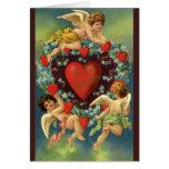 El día de San Valentín del vintage, corazones de Tarjeta Pequeña