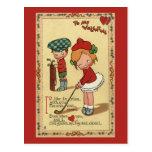 El día de San Valentín del vintage, golf de los Postal