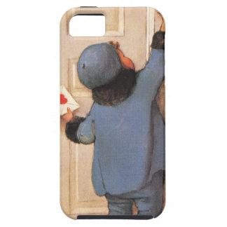 El día de San Valentín del vintage, niño con la le iPhone 5 Case-Mate Cárcasas