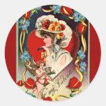 El día de San Valentín del vintage Pegatina Redonda