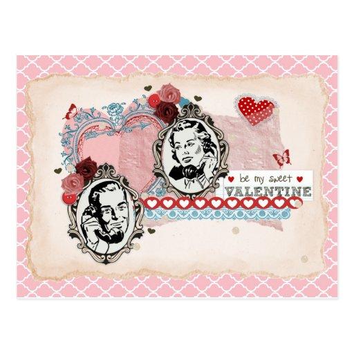 El día de San Valentín del vintage Postal