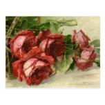 El día de San Valentín del vintage, rosas rojos de Postales