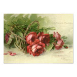 El día de San Valentín del vintage, rosas rojos Invitacion Personalizada