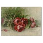 El día de San Valentín del vintage, rosas rojos Tabla Para Cortar