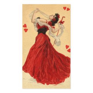 El día de San Valentín del vintage, señora de Tarjetas De Visita