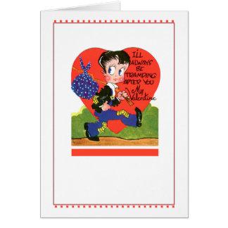 El día de San Valentín del vintage Tarjeta De Felicitación