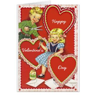 El día de San Valentín del vintage Tarjetón