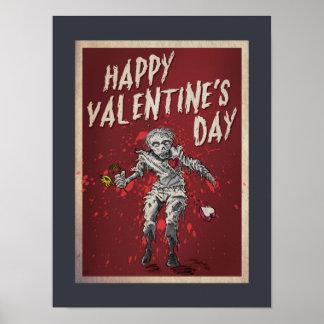 El día de San Valentín del zombi Póster