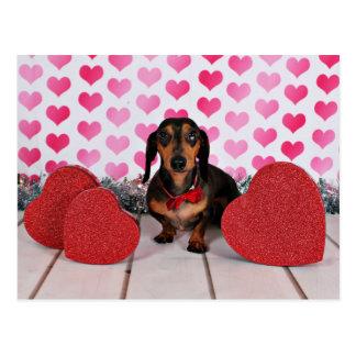 El día de San Valentín - Dexter - Dachshund Postales