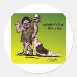 El día de San Valentín divertido cómico Etiqueta Redonda