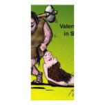El día de San Valentín divertido cómico Tarjeta Publicitaria