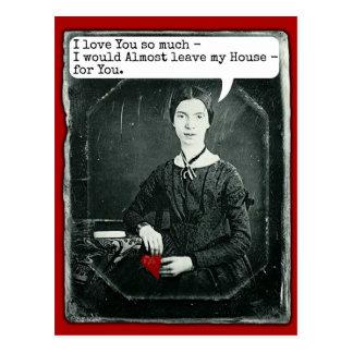 El día de San Valentín divertido de Emily Dickinso Tarjeta Postal