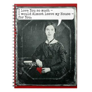 El día de San Valentín divertido de Emily Spiral Notebook