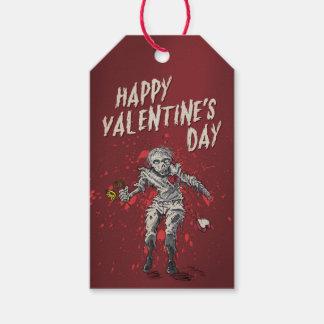 El día de San Valentín divertido del zombi Etiquetas Para Regalos