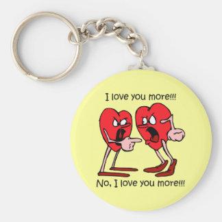 El día de San Valentín divertido Llavero Redondo Tipo Pin