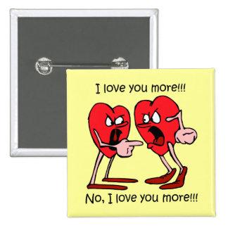 El día de San Valentín divertido Pin Cuadrada 5 Cm