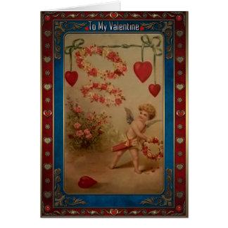 El día de San Valentín - el Cupid lanza una Tarjeta De Felicitación