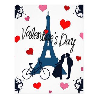 El día de San Valentín en París Plantilla De Membrete