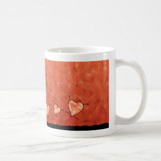 El día de San Valentín feliz 2 Taza Básica Blanca