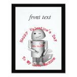 El día de San Valentín feliz a mi máquina del amor Invitación 10,8 X 13,9 Cm
