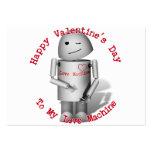 El día de San Valentín feliz a mi máquina del amor Tarjetas De Visita Grandes