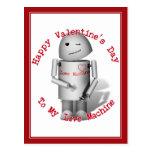 El día de San Valentín feliz a mi máquina del amor Postal