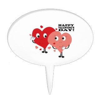 ¡El día de San Valentín feliz! Figura Para Tarta