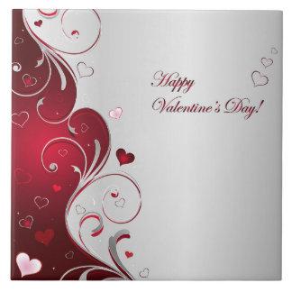 El día de San Valentín feliz Azulejo Cuadrado Grande