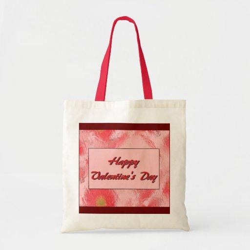El día de San Valentín feliz Bolsa Tela Barata