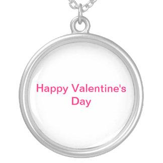 El día de San Valentín feliz Colgante Redondo