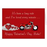 El día de San Valentín feliz con la moto para el m Tarjeta
