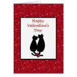 El día de San Valentín feliz con los gatitos de lo Felicitaciones