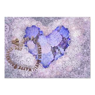 """¡El día de San Valentín feliz! Corazón-Joya y Invitación 5"""" X 7"""""""