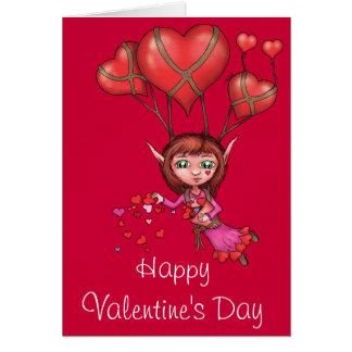 El día de San Valentín feliz - corazón que asperja Tarjeta
