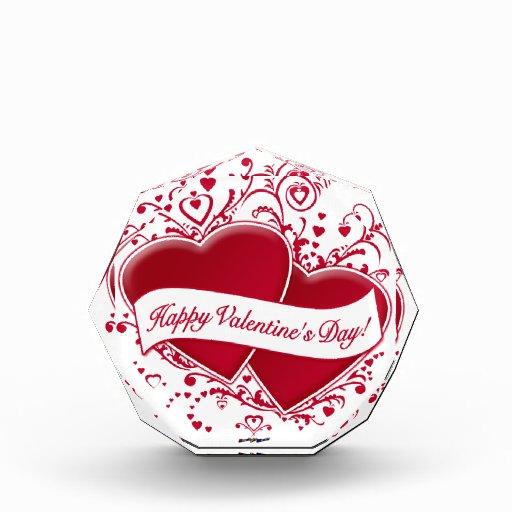 ¡El día de San Valentín feliz! Corazones rojos