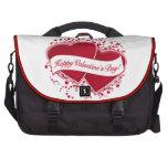¡El día de San Valentín feliz! Corazones rojos Bolsa Para Ordenador