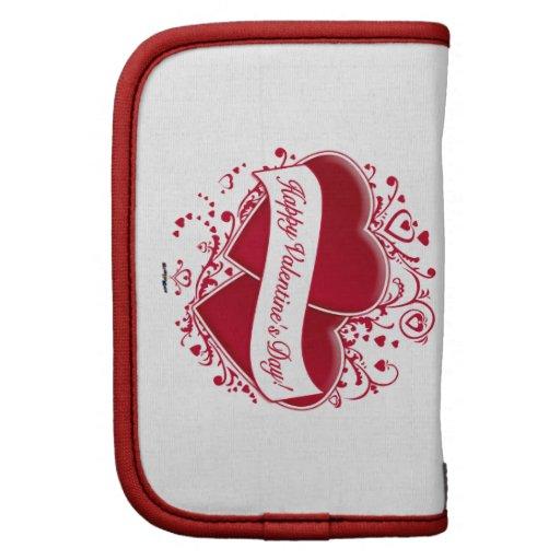 ¡El día de San Valentín feliz! Corazones rojos Planificador