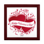 ¡El día de San Valentín feliz! Corazones rojos Cajas De Regalo