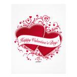 ¡El día de San Valentín feliz! Corazones rojos Membrete Personalizado